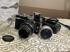 Olympus Pen E-Pl1 12.3Mp Mirrorless Camera W/ 14-42, 17mm Lenses, filter