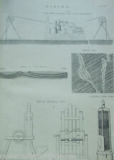 ANTIQUE PRINT 1880S ENGRAVING MINING STEAM WHIM FOR RAISING COALS STAFFORDSHIRE