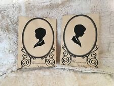 Silhouettes Young Boy Right and Left Profiles Signed by Artist