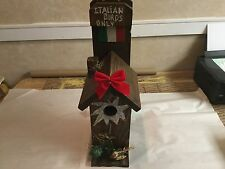 Handmade Cedar Bird House Single Family Any Nationality Flag An Saying Well Made