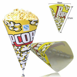10/50/100pcs Cone Popcorn Paper Pack Bags Container Movie Party Cookie Supply Ba