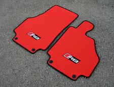 Rosso / NERO SUPER velluto TAPPETINI AUTO - Audi R8 (07-15) + GRANDE R8 LOGO +