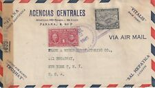1945 Panama censored cover from Colon to Broadway New York USA