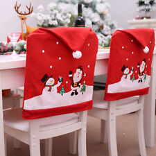 Christmas decoration chair covers dining seat santa claus party decor cloth