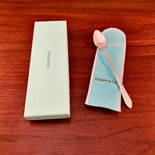 NEW TIFFANY & CO STERLING SILVER FANEUIL PATTERN BABY YOUTH SPOON W/ BOX & POUCH