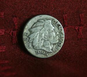 1953 10 Centavos Colombia World Coin Chief Calarca KM212.1 ten cents Diez