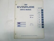 1969 Evinrude FASTWIN 18 HP Service Shop Repair Manual STAINS FACTORY OEM 69