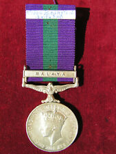 More details for post ww2 british army general serice medal gsm malaya 13th/18th hussars