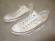 MENS CONVERSE ALL STAR CREAM TRAINERS SHOES UK SIZE 9 EUR 42.5 RARE WORN IN!