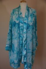 Sophia by Delicates 2 PC Short Gown and Robe Intimate Sleepwear Size Large