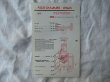Allis Chalmers D-21 D21 tractor lubrication guide chart
