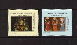El Salvador 1987 Christmas set mint MNH stamps