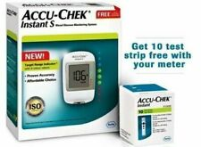 Accu-Chek Instant S Glucometer with 10 Strips Free