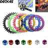 DECKAS 104BCD 32-38T Chainring MTB Bike Narrow Wide Single Speed Sprockets Bolts