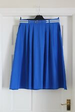 Vintage New M & S Blue skirt size 14 - 16 hardly worn waist 32 in hips 42 in