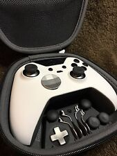 Elite Xbox One 1 Controller - Custom WHITE SHELL, Black,Buttons,ABXY