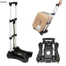 Foldable Aluminium Folding Luggage Cart And Hand Truck Trolley Wheels w/2 Ropes