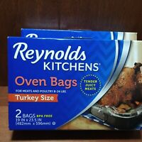 Lot Of 2 Boxes Of Reynolds Kitchen Oven Bags- Turkey Size- Roasting Baking Liner