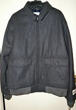 """HAGGAR CLOTHING Men's Dorset 25 Bomber Jacket """"CHARCOAL"""" Size XXL New with Tags"""