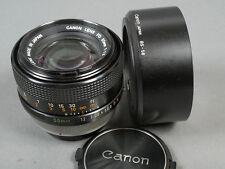 Canon FD 1,2/55 SSC chrr. +bs-58 s. g. zustd., vidrio top!
