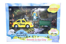 The Smurfs in the City Adventure Pack Smurfette figure & taxi & bench car movie