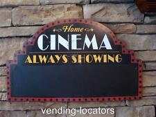 Home Cinema Always Showing Theater Wall Decor Wood Sign Cinema Entertainment New