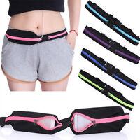 Outdoor Sports Waist Phone Bag Pack Pouch Band Belt Belly Running Jogging Gym US