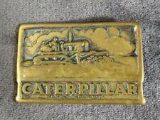 Vintage Belt Buckle Caterpillar Cat Dozer RARE Vintage Adezy 1975