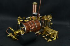 New Two-cylinder steam engine with BoilerWith Brass Decelerating wiht Water Pump