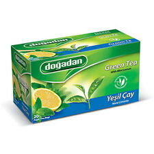 Dogadan Premium Green Tea with Mint & Lemon ( 2 Boxes / 40 teabags ) UK Seller