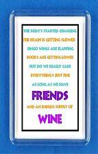 FRIDGE MAGNET FUNNY Humorous  Laugh Joke WINE Perfect Gift for FRIENDS or MATE
