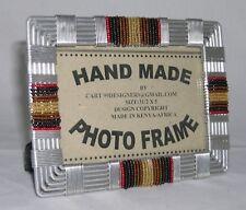 Kenyan Beaded Wire Picture Frame Handmade Fair Trade Crossroads Eco Repurposed
