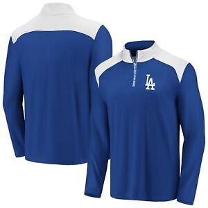 Los Angeles Dodgers Fanatics Branded Iconic Clutch Quarter-Zip Pullover Jacket -