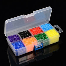 1 Box 8 Color Tube PE DIY Melty Beads Fuse Beads Refills Crafts 3~3.3x2.5~2.6mm