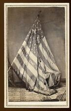 Cdv Photograph Civil War Battle Flag Pennsylvania 36Th Vol 7Th Reserve Reg #26