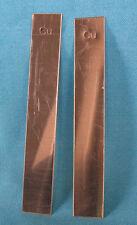 "Set of 4 Copper Electrodes, 5"" x 3/4"" each"