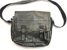 Vtg Fossil Brand Mens Leather Business Laptop Messenger Shoulder Bag