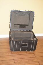 HEAVY DUTY WATERPROOF Portable DJ Utility Case With Pull-Out Handle Wheels