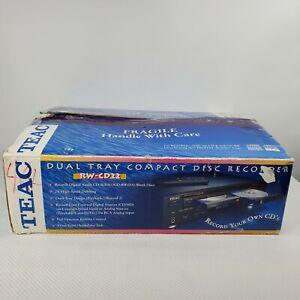 Teac RW-CD22 High Speed Dubbing Dual CD Recorder Player CD-RW Rewriter New Open
