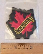 CANADA Canadian Maple Leaf Embroidered Patch Badge NIP
