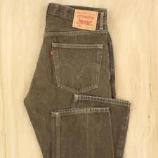 LEVI's 505 fit pants jeans 34 x 30 tag brown wash fade