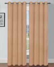 1 Pc Semi Sheer Window Panel curtains DRAPE GROMMET SOLID PLIAN SILK MIRA STYLE