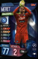 2019-20 Topps UEFA Champions League Match Attax #NAP 2 Alex Meret SSC NAPOLI  Of