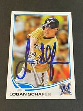 Logan Schafer Signed 2013 Topps Update US Rookie Card Auto Brewers Autograph COA