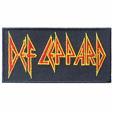 Def Leppard Classic Logo Rock Music Embroidered Iron-On Patches Jacket Cap #S114