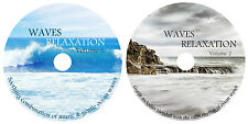SOOTHING MUSIC & OCEAN WAVES RELAXATION X 2 CD's MEDITATION, STRESS, SPA & SLEEP