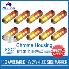 10 X AMBER/RED CLEARANCE SIDE MARKER LIGHT 12/24V LED CARAVAN PARTS, ACCESSORIES
