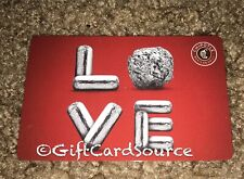2015 CHIPOTLE RED GIFT CARD BURRITO LOVE COLLECTIBLE NEW