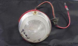 VINTAGE 1957 FORD ORIGINAL USED BACKUP LIGHT LENS RED LENS CHIPPED ON SIDE