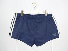 Mens Adidas Vintage Nylon Shorts Sprinter Navy White Stripes Size D6 / M